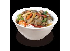 PC10. Boeuf piquante thai sur riz nature
