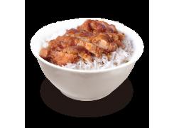 PC2. Poulet croustillant sur riz nature