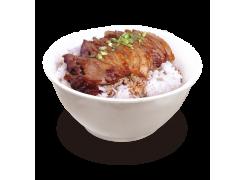 PC3. Canard laqué sur riz nature