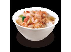 PC5. Crevettes sauce épicée sur riz nature