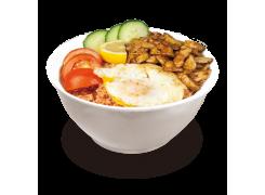 PC6A. Riz LOC LAC au poulet sur riz maison