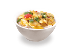 PC7. Poulet au curry sur riz nature