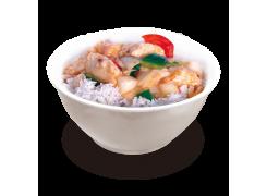 PC8. Poisson sauce piquante sur riz nature